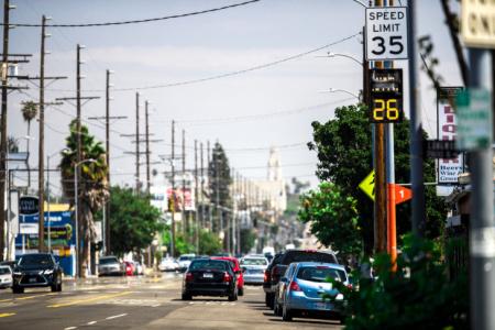 Los Angeles city street