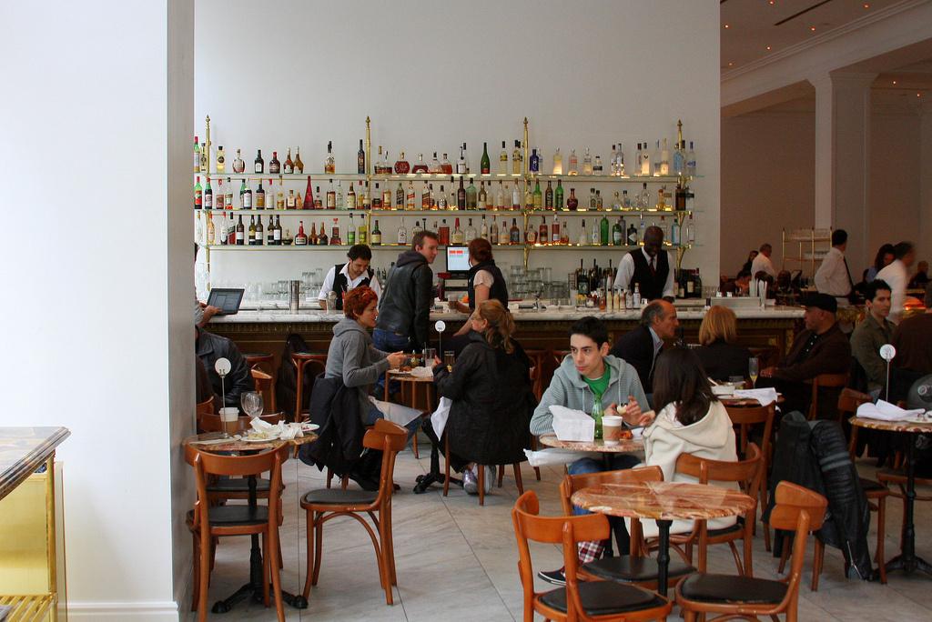 Inside Bottega Louie, regarded as one of Los Angeles' loudest restaurants.