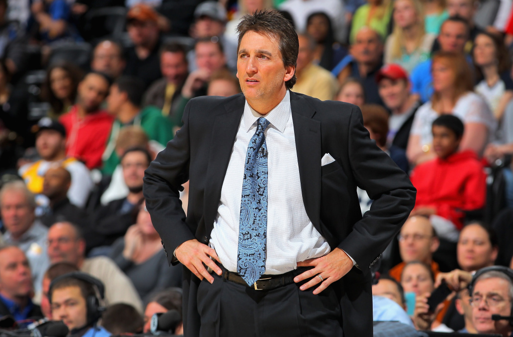 Head coach Vinny Del Negro leads the Los Angeles Clippers against the Denver Nuggets at the Pepsi Center on March 7, 2013 in Denver, Colorado. The Nuggets defeated the Clippers 107-92.