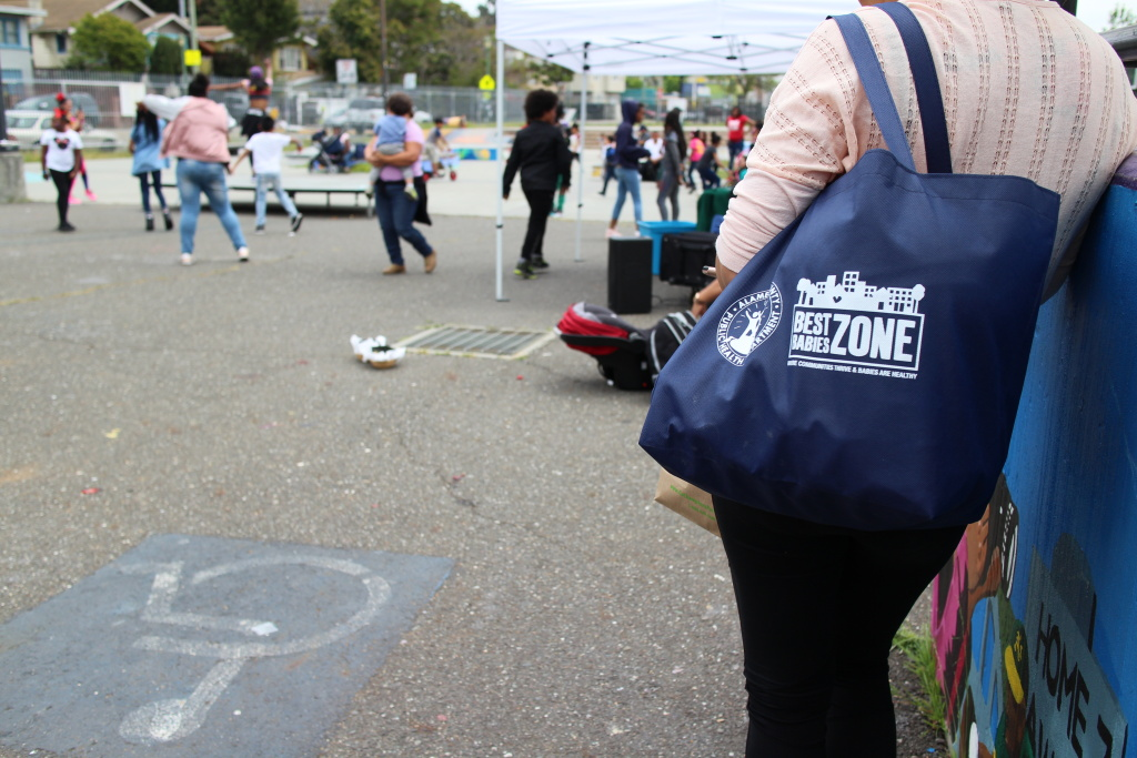 A few times a year in Castlemont, a neighborhood in East Oakland, residents come together for a community market.