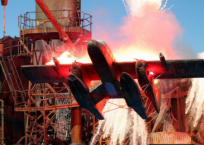 Stunt show at Universal Studios Hollywood