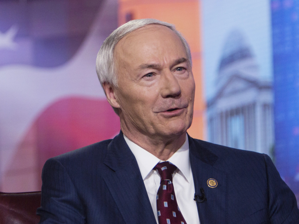 Arkansas Gov. Asa Hutchinson, pictured in 2019, on Monday said the bill banning gender-affirming medical care for transgender youth would set