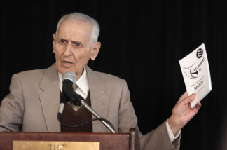 Jack Kevorkian discusses his decision to run for Congress at a news conference on March 24, 2008 in Southfield, Michigan.
