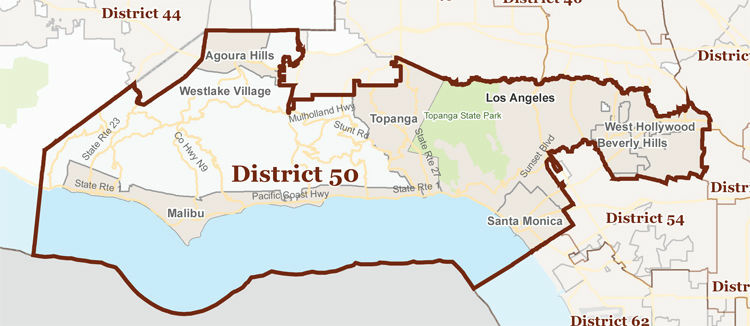The new 50th Assembly District includes some of the wealthiest parts of the region, from Hancock Park to Beverly Hills to Malibu.