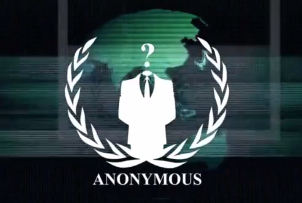 A screenshot from the video put out by Anonymous, who claims to have hacked KKK servers and Twitter account in an act of cyber warfare.