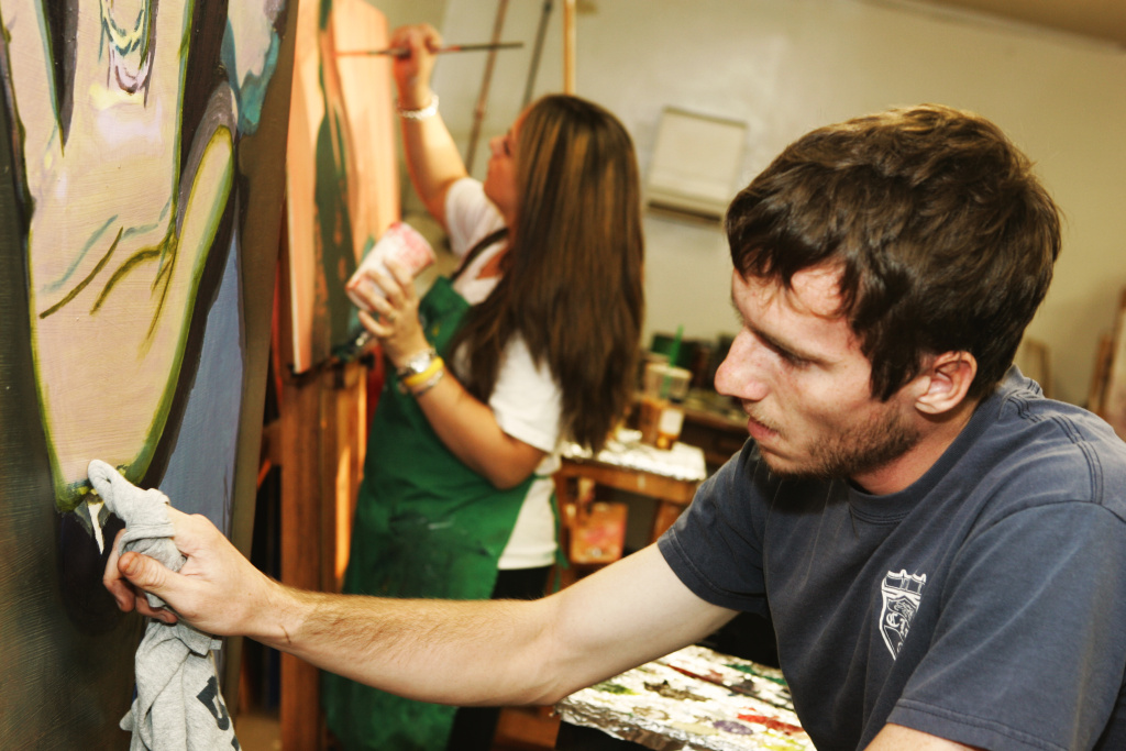 The studio arts program at California Lutheran University in Thousand Oaks, Calif., includes courses in painting.