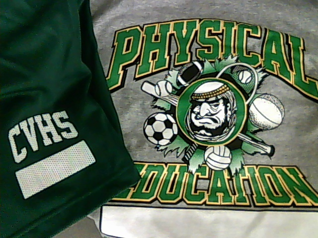 A physical education uniform available for $15 through Coachella Valley High School's web store shows