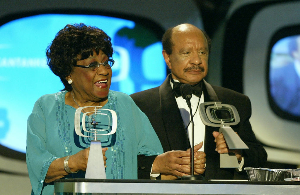Actress Isabel Sanford and Actor Sherman Hemsley speak on stage at the 2nd Annual TV Land Awards held at The Hollywood Palladium, March 7, 2004 in Hollywood, California.