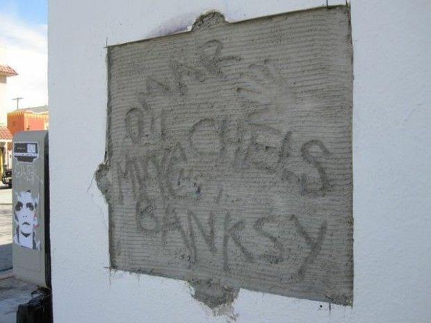 A memorial where Banksy's