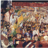 """Christ's Entry into Brussels,"" by James Ensor, the centerpiece of ""The Scandalous Art of James Ensor,"" at the Getty Center through Sept. 7."