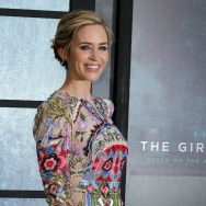 British actress Emily Blunt poses for photographers as she arrives to attend the World Premiere of the film 'The Girl on the Train', in central London on September 20, 2016.