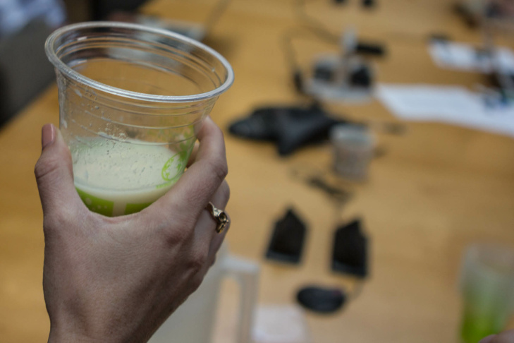 Take Two staffers try Soylent, a food-replacement concoction by Rob Rhinehart that raised funding successfully through crowd-funding.