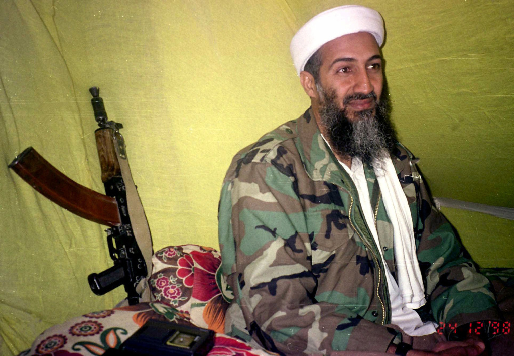 File: Al-Qaida leader Osama bin Laden speaks to a selected group of reporters in the mountains of Helmand province in southern Afghanistan in 1998. It has been five years since he was killed in a U.S. raid in Pakistan.