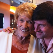 "Jeanne Cooper, star of ""The Young and the Restless,"" with Off-Ramp host John Rabe."
