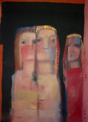 Iraqi artist Khalid Alaani's painting