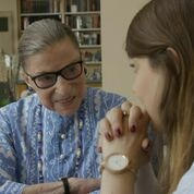 U.S. Supreme Court Justice Ruth Bader Ginsburg talks to high school students in the documentary,