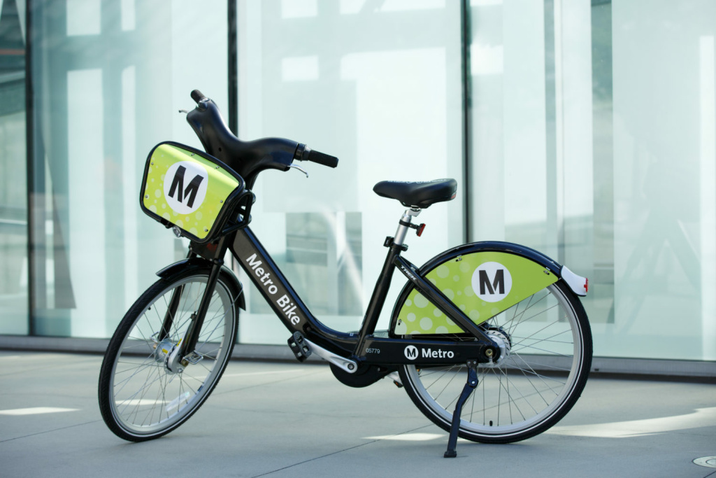 Metro launches its bike-share pilot July 7 in downtown LA with 1,000 bikes docked at 65 different locations.