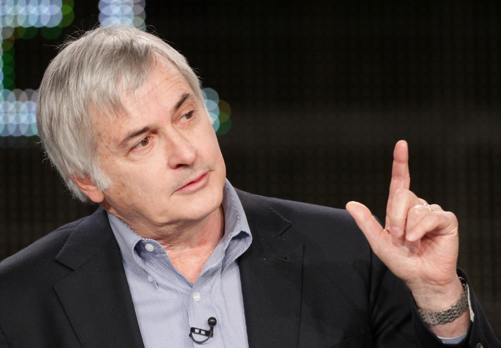 Seth Shostak of S.E.T.I. speaks onstage during the