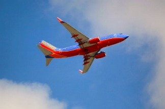 A Southwest airplane is seen taking off from the Fort Lauderdale-Hollywood International Airport on September 27, 2010.