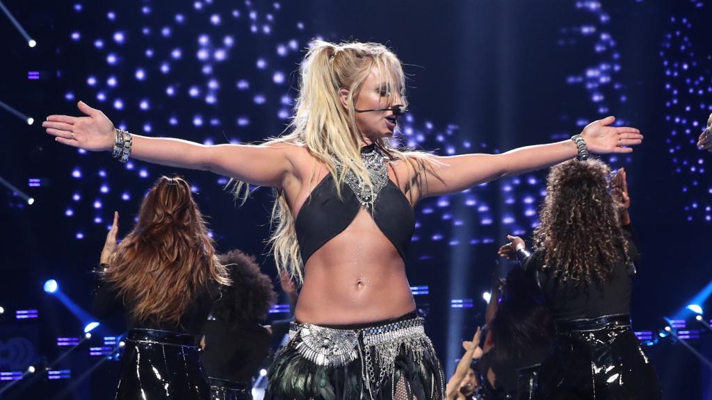 Britney Spears performing onstage in Las Vegas in 2016.
