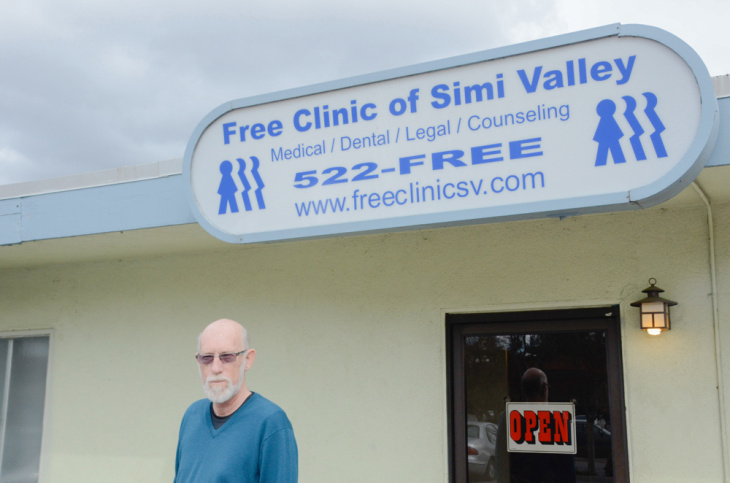 Executive Director Fred Bauermeister stands in the offices of Free Clinic of Simi Valley on Thursday, March 7, 2013. The Free Clinic is a California provider that seeks to keep patients - many of them immigrants - out of expensive modes of care such the emergency room.