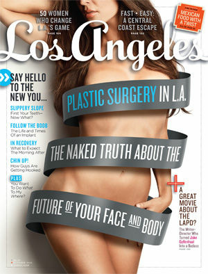 Cover of the October issue of LA Magazine.