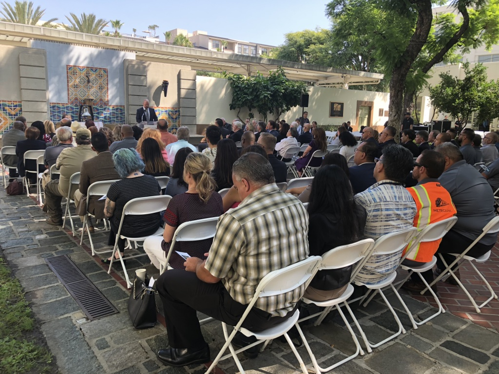 Officials and family members gather to remember the victims killed and injured in the Chatsworth train crash ten years ago.