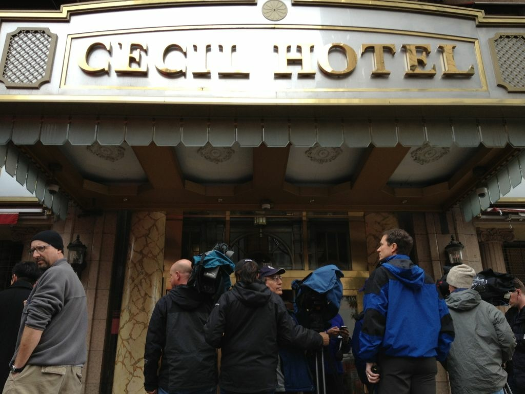 The Hotel Cecil in downtown Los Angeles, where Canadian tourist Elisa Lam was last seen.