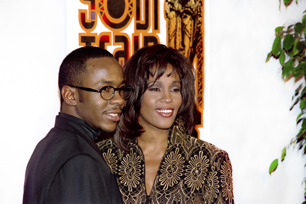 Bobby Brown and Whitney Houston at the Soul Train Awards in March, 1995