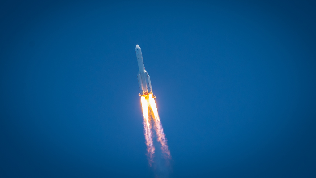 The Tianwen-1 Mars probe launches successfully from the Wenchang Spaceport on Hainan Island, China, on Thursday.