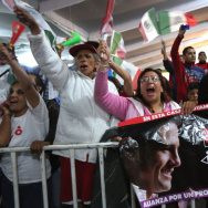 Supporters Of Mexico's PRI Party Celebrate Election Results