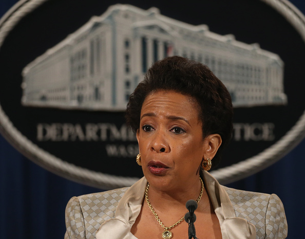 U.S. Attorney General Loretta Lynch speaks about Baltimore during a news conference at the Justice Department May 8, 2015 in Washington, D.C. She announced the Justice Department will launch a probe into possible civil rights violations involving the Baltimore Police Department.