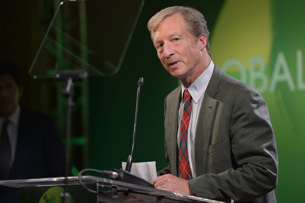 Tom Steyer speaks at Global Green USA's Millennium Awards at Fairmont Miramar Hotel in Santa Monica, California benefiting the places, the people and the planet in need.