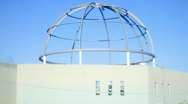 The dome under construction at the La Luz Del Mundo church in Phoenix, October 2010
