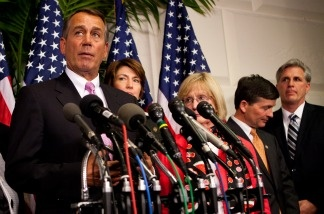House Speaker John Boehner, R-Ohio, announces that a deal has been reached on the federal budget on April 8, 2011, in Washington, DC. The federal government had been scheduled to shut down at midnight.