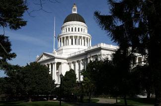 A view of the California State Capitol February 19, 2009 in Sacramento, California.