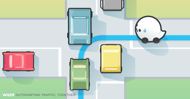 An  illustration of Waze's Difficult Intersections feature, which the app debuted on Friday, June 17, 2016.