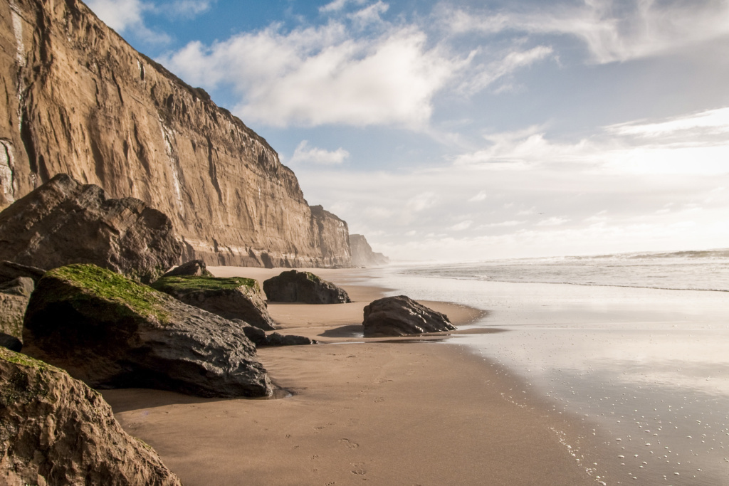 Martins Beach near Half Moon Bay, south of San Francisco. Vinod Khosla bought Martins Beach in July 2008 for some $37 million.
