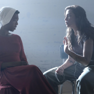 "Behind the scenes of the Hulu series ""The Handmaid's Tale"" with Moira (Samira Wiley) and director Reed Morano."