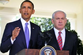 U.S. President Barack Obama with Israeli Prime Minister Benjamin Netanyahu during a meeting in 2010.