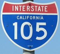 California 105 Freeway sign