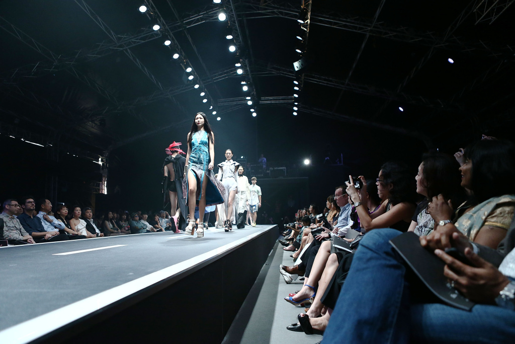 General Atmosphere of models walking down the runway at the Audi Star Creation Runway Showdown event at Tent @ Marina Promenade on May 13, 2013 in Singapore.