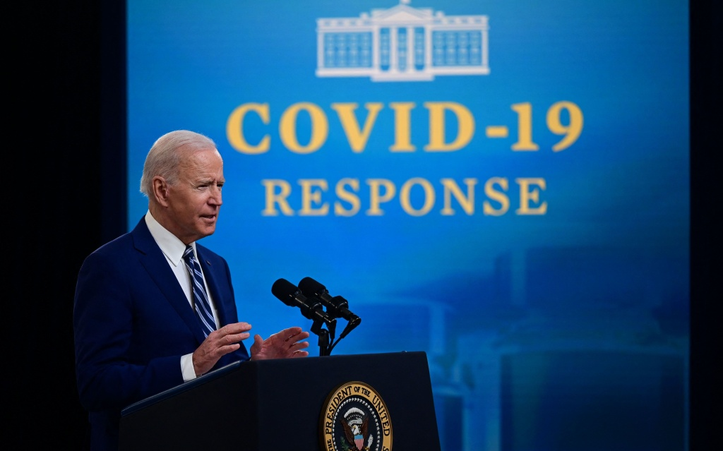 Two-thirds of American adults polled approve of the job that President Biden is doing with the coronavirus pandemic. That's nearly twice as high as those who say the same of Biden's job on immigration.