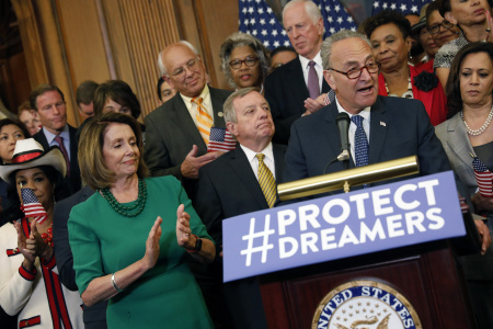 Schumer, Pelosi Lead Democrats' Call For GOP Lawmakers To Stand Up To President On Decision To End DACA
