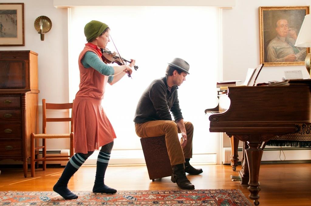 Carla Kihlstedt and Matthias Bossi make up the band, Rabbit Rabbit.
