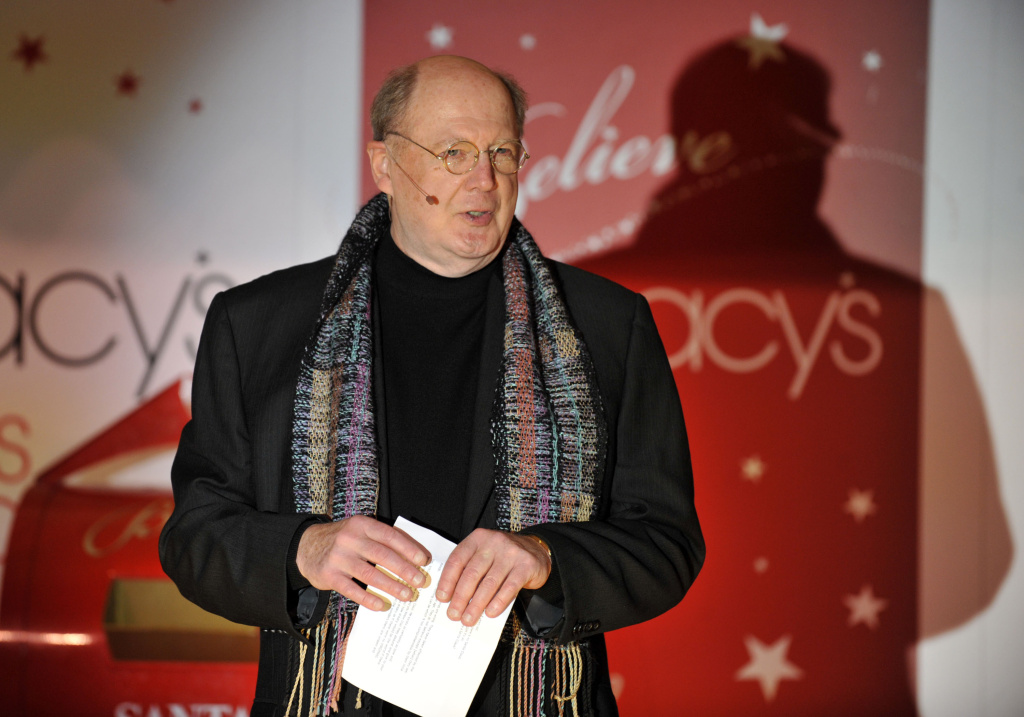 David Ogden Stiers speaks at the Christmas Window Unveiling Spectacular at Macy's Herald Square on November 19, 2009 in New York City.