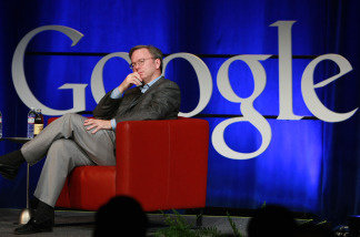 File photo: Google CEO Eric Schmidt at Google headquarters in Mountain View, California. Google and Verizon announced that they would maintain the openness and integrity of the internet.