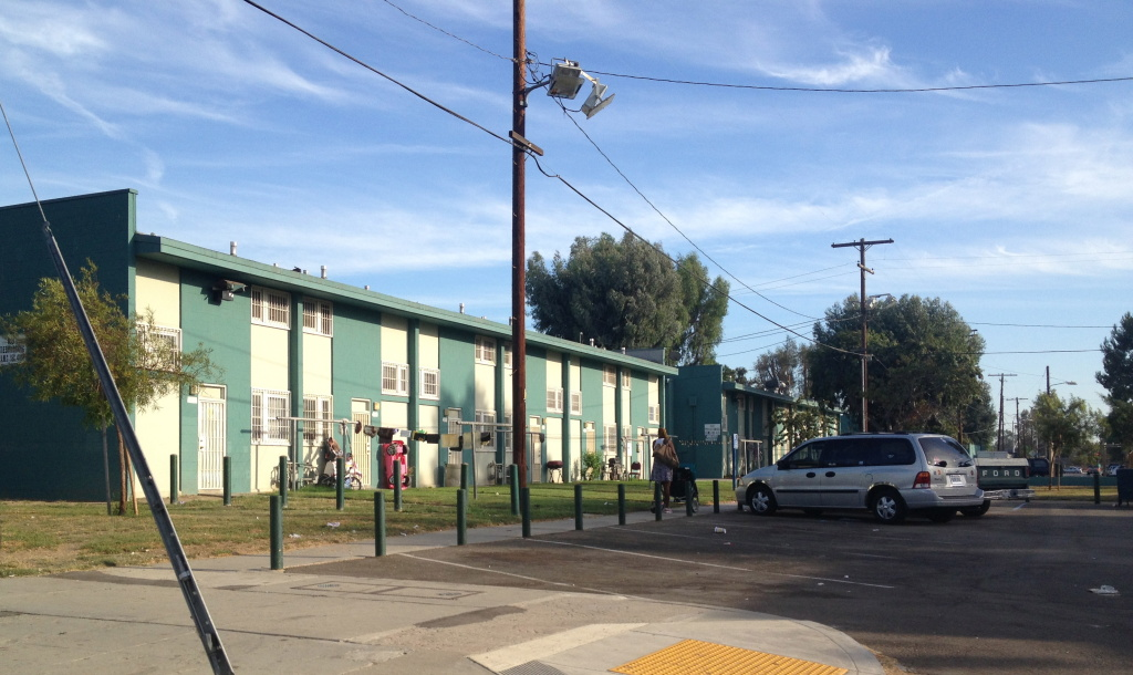 This is Imperial Courts, another L.A. public housing development patrolled by LAPD officers at the Southeast division.