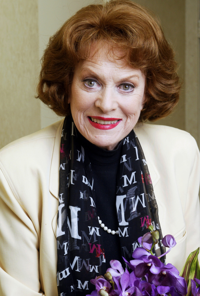 In this March 9, 2004 photo, actress Maureen O'Hara poses for a photo in the Bel Air Estates area of Los Angeles.  O'Hara, who appeared in such classic films as