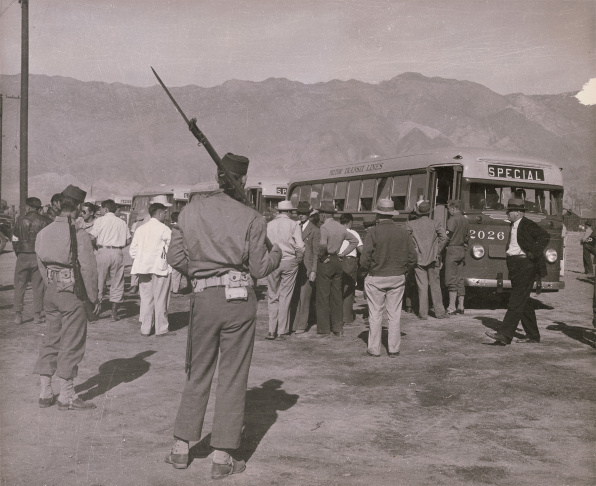 Tule Lake concentration camp in California, 1945.